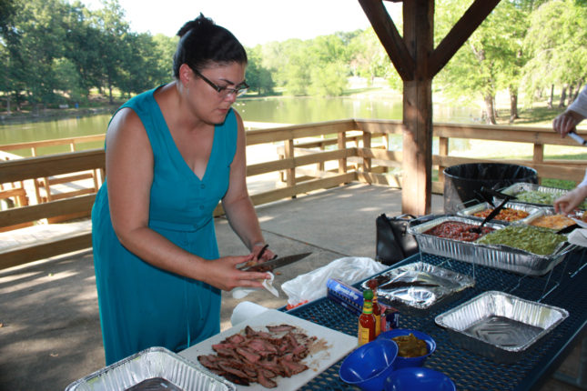 "Merilda, 2nd year fellow, was ""Chef"" for the picnic."