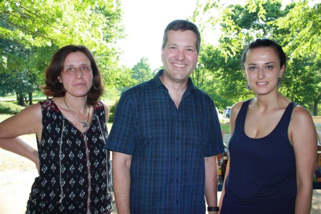 Jenn Philips (assistant professor), Dave Warren (associate professor) and Calne Mattar, (second year fellow)